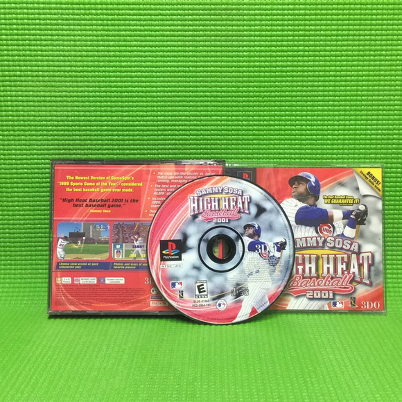 Sammy Sosa High Heat Baseball 2001 - Sony PS1 Playstation 1 | Disc Plus