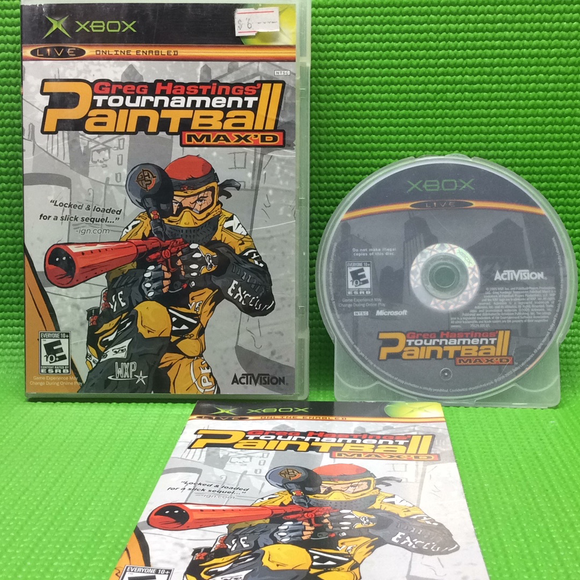 Greg Hasting's Tournament Paintball Max'd - Microsoft Xbox | Disc Plus