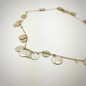 Natal chart necklace