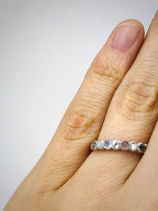 Grayscale 9 stone ring