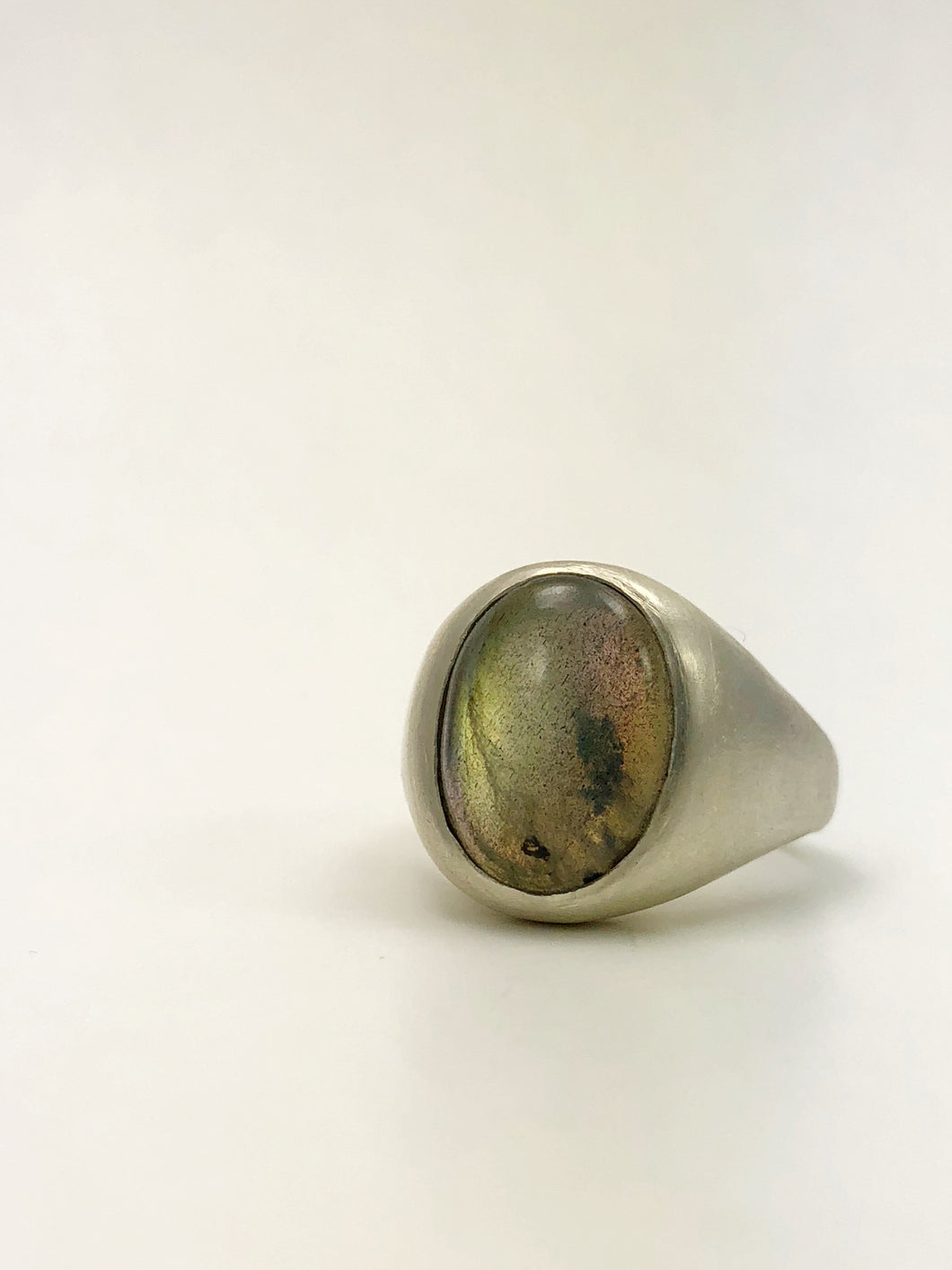 BIG SOFTY LABRADORITE RING