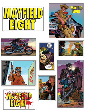Mayfield Eight Supporting Characters sticker sheet