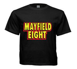 Black t-shirt Mayfield Eight logo