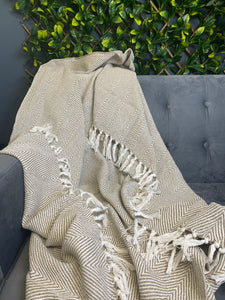 Neutral Cotton Throw