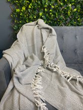 Load image into Gallery viewer, Grey Cotton Throw