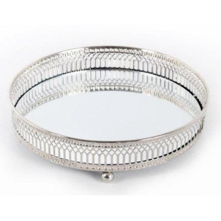 Small Silver Mirror Tray