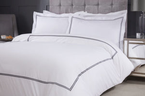 charcoal Embroidered Bedding