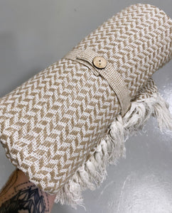 Neutral textured throw