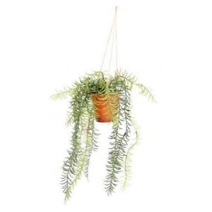 Hanging artificial lavender plant