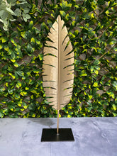Load image into Gallery viewer, Tall Gold Metal Sculpture