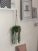 Load image into Gallery viewer, Hanging artificial lavender plant