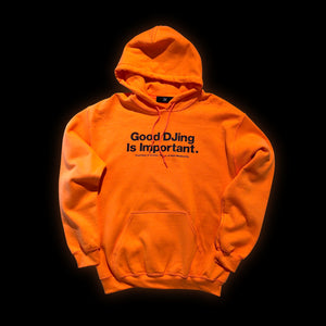 Good DJing Hood - Safety Orange