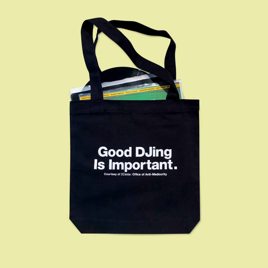 Good DJing Tote - Black