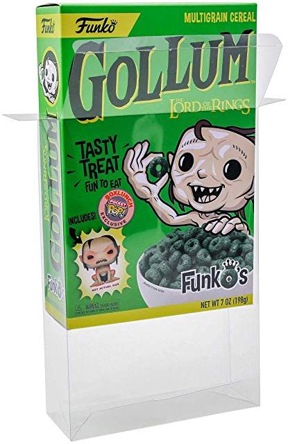 Funko Cereal Box Protectors made with 0.50mm thick PET Acid-Free Plastic