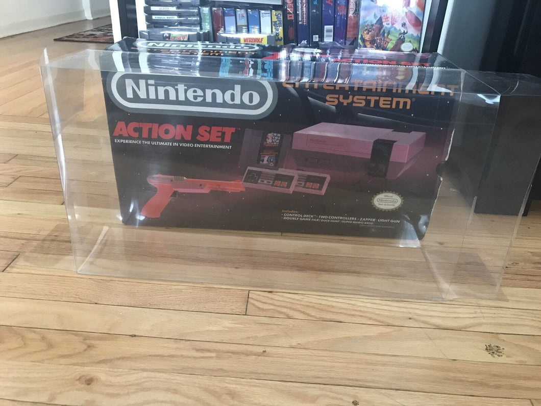 Nintendo Entertainment System Action Set Console Box Protector made with 0.50mm Thick Plastic - Sturdiest Protectors on the Market!