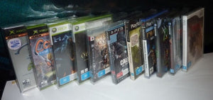 DVD, Gamecube, Xbox, PS2, Wii Box Protectors made with 0.50mm thick PET Acid-Free Plastic