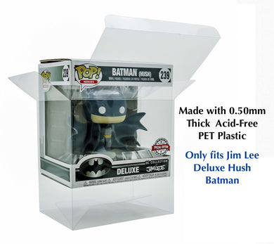 Jim Lee Deluxe Hush Batman Funko POP! Protector made with 0.50mm thick PET Acid-Free Plastic