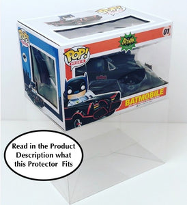 Funko POP! Ride Box Protectors for Car Size made with 0.50mm thick PET Acid-Free Plastic - Read Below What This Fits