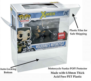 Funko POP! Ride Box Protectors for Motorcycle Size made with 0.50mm thick PET Acid-Free Plastic - Read Below What This Fits