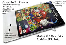 Load image into Gallery viewer, DVD, Gamecube, Xbox, PS2, Wii Box Protectors made with 0.50mm thick PET Acid-Free Plastic