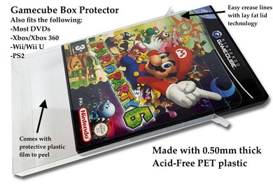 DVD, Gamecube, Xbox, PS2, Wii Box Protectors made with 0.50mm thick PET Acid-Free Plastic - Thickest on the Market! FREE Economy Shipping!