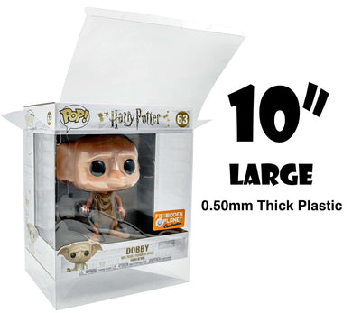 10 Inch (WIDE SIZE) Funko POP! Box Protector made with 0.50mm thick PET Acid-Free Plastic - DOES NOT FIT BABY YODA/THE CHILD 10