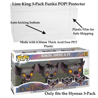 Lion King Hyenas 3-Pack Funko POP! Protectors made with 0.50mm thick PET Acid-Free Plastic - Please Read Description