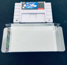 Load image into Gallery viewer, Super Nintendo Cartridge Protectors made with 0.50mm thick PET Acid-Free Plastic FREE Economy Shipping!