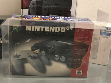 Nintendo 64 Funtastic Set Console Box Protector made with 0.50mm Thick Plastic - PLEASE READ WHAT THIS PROTECTOR FITS