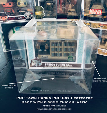Funko POP! TOWN Box Protectors made with 0.50mm thick PET Acid-Free Plastic