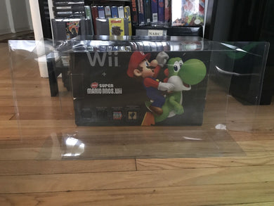 Nintendo Wii Black/Red Edition Console Box Protector made with 0.50mm Thick Plastic - Sturdiest Protectors on the Market!