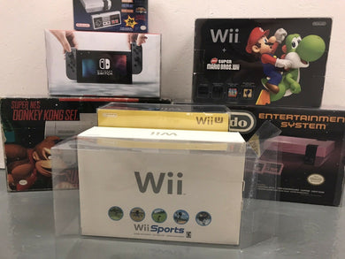 Nintendo Wii White Original Edition Console Box Protector made with 0.50mm Thick Plastic - Sturdiest Protectors on the Market!