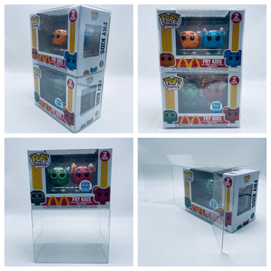 Horizontal FUNKO POP! 0.50mm Box Protector for The Child Baby Yoda Mandalorian & Fry Kids 2pack