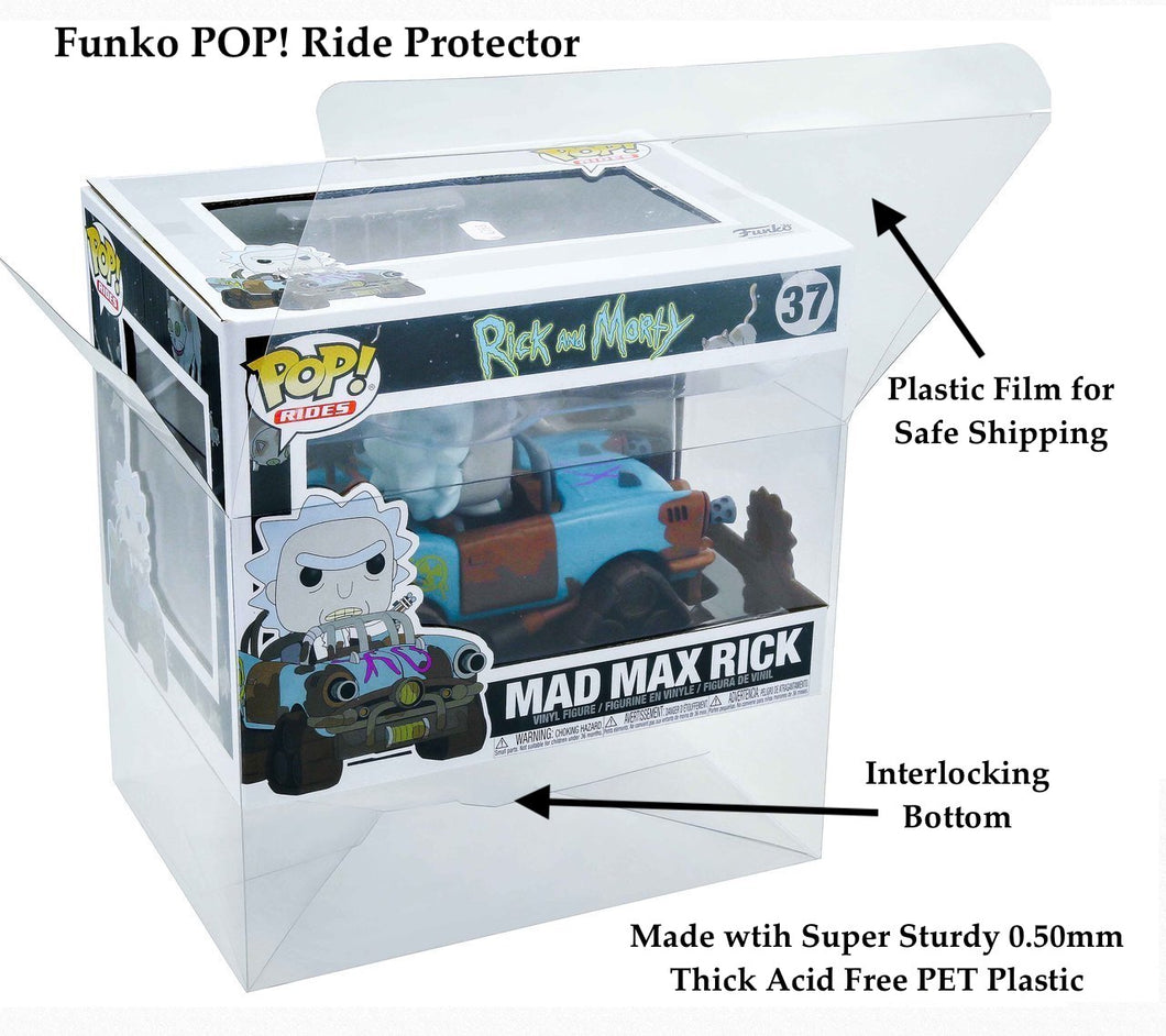 Funko POP! Ride Box Protectors made with 0.50mm thick PET Acid-Free Plastic - Read Below