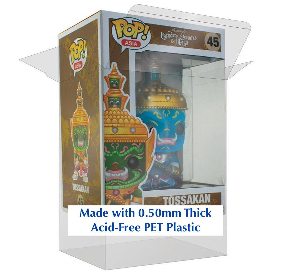 Tossakan Funko POP! ASIA Box Protector made with 0.50mm thick PET Acid-Free Plastic