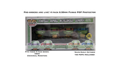 4-Pack Funko POP! Protectors made with 0.50mm thick PET Acid-Free Plastic - Please Read Description DOES NOT FIT IRON MAIDEN 4 PACK