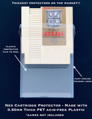 Nintendo NES Cartridge Protectors made with 0.50mm thick PET Acid-Free Plastic FREE Economy Shipping!