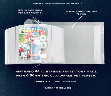 Nintendo 64 Cartridge Protectors made with 0.50mm thick PET Acid-Free Plastic FREE Economy Shipping!