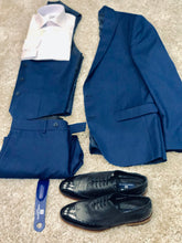 Load image into Gallery viewer, Sergio Alvajee 3pcs Suit -Navy  Plain