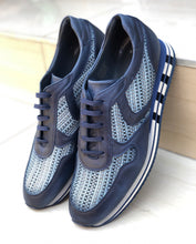 Load image into Gallery viewer, 021 - Fabio Divayo Leather Sneaker- Navy