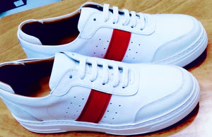 053-Lufiano Leather Sneaker-White