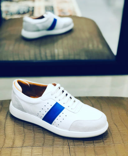 054-Lufiano Leather Sneaker-White