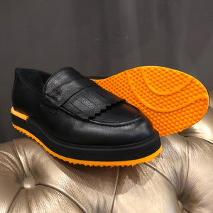 067- Lufiano Leather loafer - Black