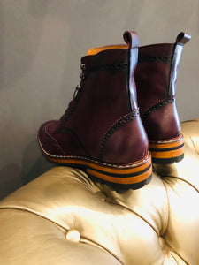 060 Lufiano Collection boots: Burgundy