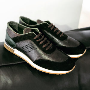 013 - Pier Lucci Leather Sneaker- Brown