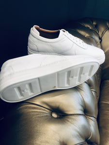 055 - Lufiano Leather Sneaker- White
