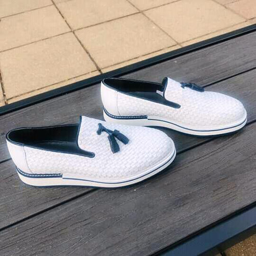 073- Lufiano Leather loafer - white