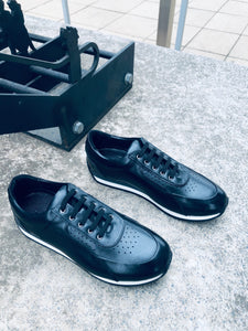 064- Fabio DIVAYO Leather Sneaker-Black