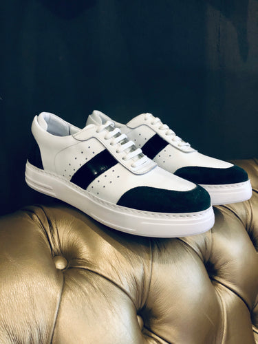 053-Lufiano Leather Sneaker-Grey