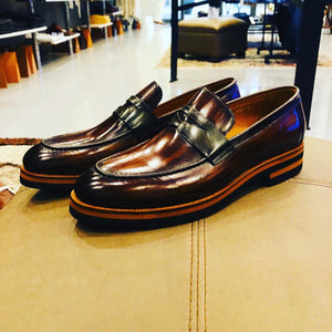 072 - Fabio DIVAYO Classic Slip on- Brown